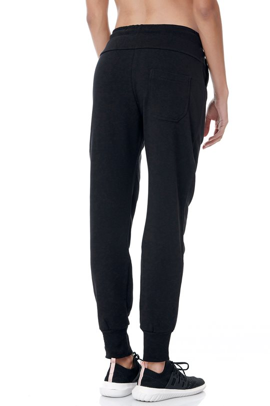 Women's loose sweatpants with elastic waistband.  Pants
