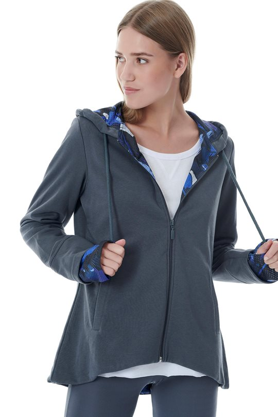 Women's hooded top  Zip-Sweaters